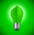 Light bulb from green leave environment concept vector image