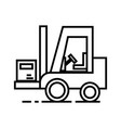 loader line icon sign on vector image