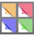 Paper corner set vector image