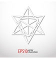 Sacred geometry symbol 3d Alchemy religion vector image