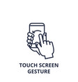 touch screen gesture line icon outline sign vector image