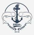 Vintage Whale Logo vector image