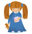 Cartoon sleepy girl vector image vector image