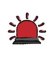 red flashing alarm vector image