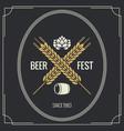 beer vintage label design background vector image