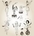 set of human circus characters vector image vector image