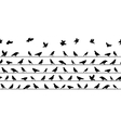 Birds Sitting on Power Lines Seamless Pattern vector image