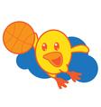 Bird Playing Basketball vector image