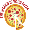 Your Pizza vector image