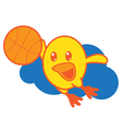 Bird Playing Basketball vector image