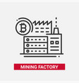 mining factory - line design single isolated icon vector image