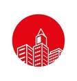 real estate building isolated icon vector image