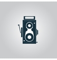Retro professional cinema film camera vector image