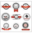 Set emblems hunting wolf eagle deer vector image
