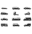 Vehicles Icon Set vector image