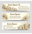 Vintage horizontal banners with dandelions vector image