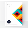 Modern Minimalistic cover template vector image