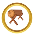 Log stand icon vector image