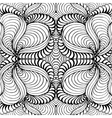 Abstract seamless background with doodle style vector image