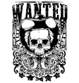 Wanted Skull vector image