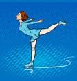 skater girl pop art style vector image