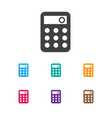 Of banking symbol on calculate vector image
