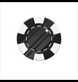 black casino chip cartoon style isolated vector image