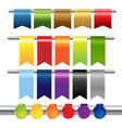 Color Web Ribbons vector image vector image