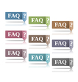 FAQ vector image vector image