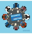 Business people at a negotiating table vector image