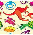 wildlife pattern vector image vector image