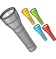 Flashlights vector image