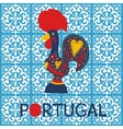 decorated Barcelos rooster symbol vector image