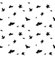 Birds Flying in Air Seamless Pattern vector image