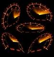 Speedometer Set vector image vector image