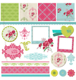 Scrapbook Design Elements - Vintage Flower Card vector image