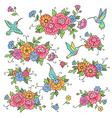 floral design birds vector image