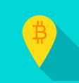 bitcoin pin flat icon vector image