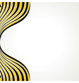 creative black and yellow strip vector image
