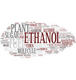 ethanol word cloud concept vector image