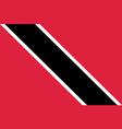flag trinidad flat icon vector image