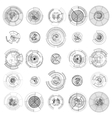 Set of abstract hud elements isolated on white vector image