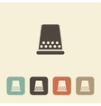 Thimble for sewing and needlework icon vector image