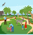 zoo cartoon background vector image