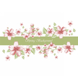 Spring Time Border card invitation vector image