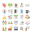 business flat colored icons 7 vector image