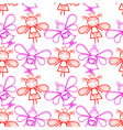 Seamless pattern with little fairies vector image vector image