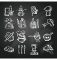 Cooking icons sketch vector image