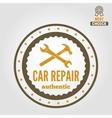Vintage mechanic labels emblems and logo vector image