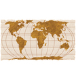 vintage geographical map vector image